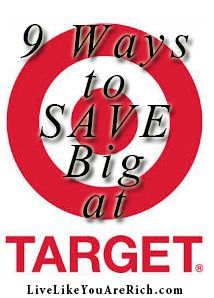 Never knew about 7 & 9. Awesome ways to save at #Target. Pinned over 3,000 times! #LiveLikeYouAreRich