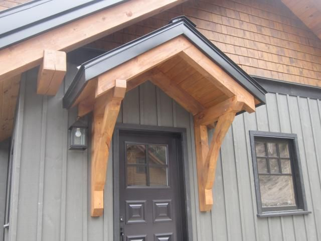 Jackson Hill Timber Frames Accents Backdoor Entrance In
