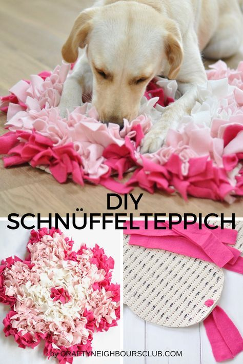 DIY sniffing rugs for the dog homemade as a paw and blossom