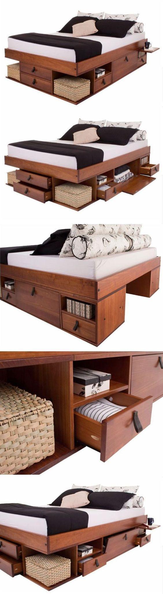 17 best modele de lit king size avec tiroirs et table de chevets