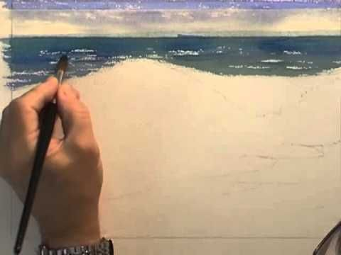 Painting Water in Watercolour - Crashing Waves (Part 1) - YouTube