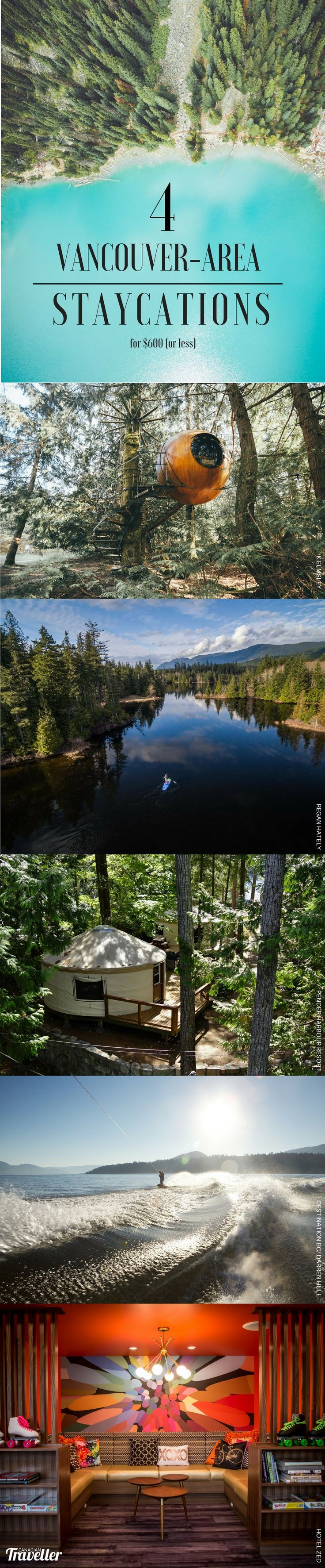 Oh Canada! 4 Two-Night Staycations from Vancouver That Cost $600 or Less via Canadian Traveller Magazine by Catherine Tse.   Vancouver Island | Pemberton | Kelowna | Pender Harbour | Free Spirit Spheres | Pender Harbour Resort & Marina | Pemberton Valley Inn | Hotel Zed | Joffre Lakes | Sunshine Coast