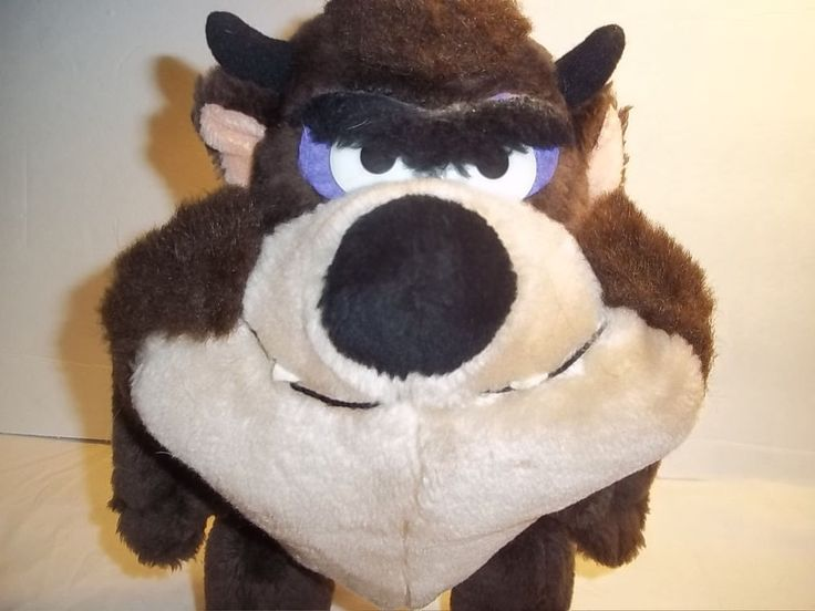 "Vintage Warner Bros Tazmanian Devil 1987 Plush Bendable Legs 12"" #WarnerBros"