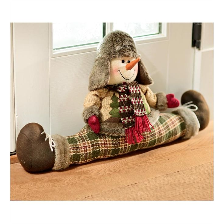 Snowman Draft Stopper   Holiday Decorations   Plow & Hearth