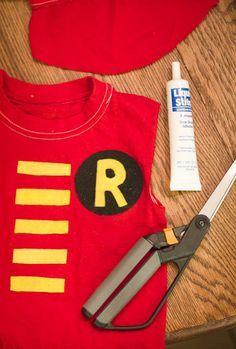 Easy No-Sew DIY Robin (Batman and Robin) Costume