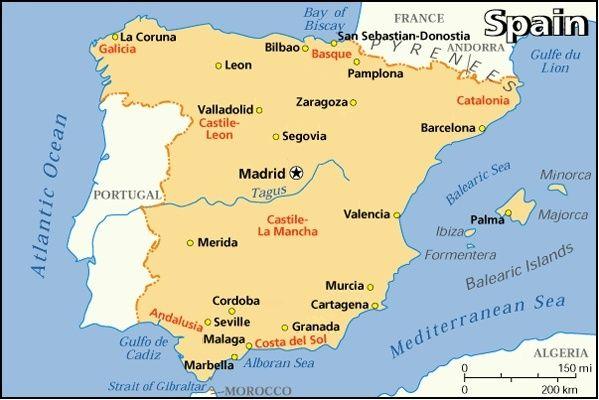 Mapa para Espanha - TripAdvisor