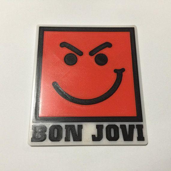 3d Printed Bon Jovi Have A Nice Day Coaster In 2020 Bon Jovi