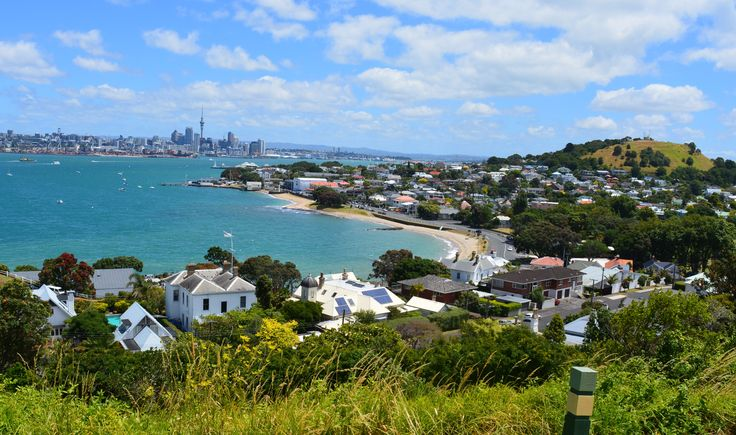 The harbour view from North Head, Auckland New Zealand.  Explore the historic reserve and take in some breath taking scenery.