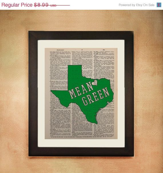 Mean Green Print By Lexiconograph On Etsy