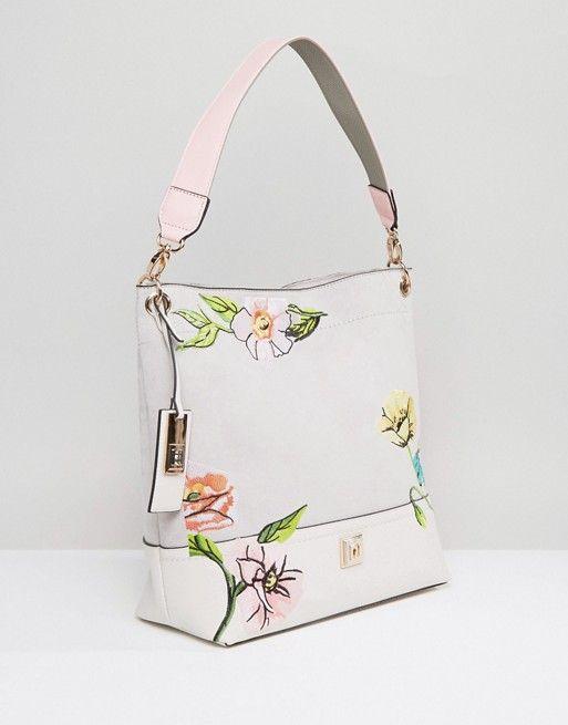River Island Floral Slouch Shoulder Bag