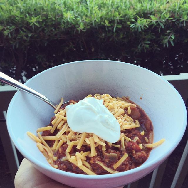 Keto chili with sour cream and cheese. Easy crockpot meals are the best!                                                                                                                                                                                 More
