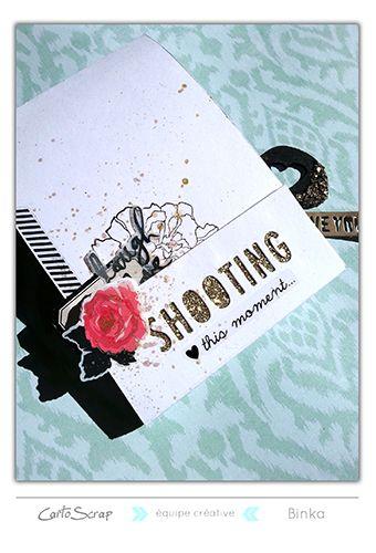 "Mini Album ""Shooting"" par Binka - Blog de Cartoscrap (tuto offert)"