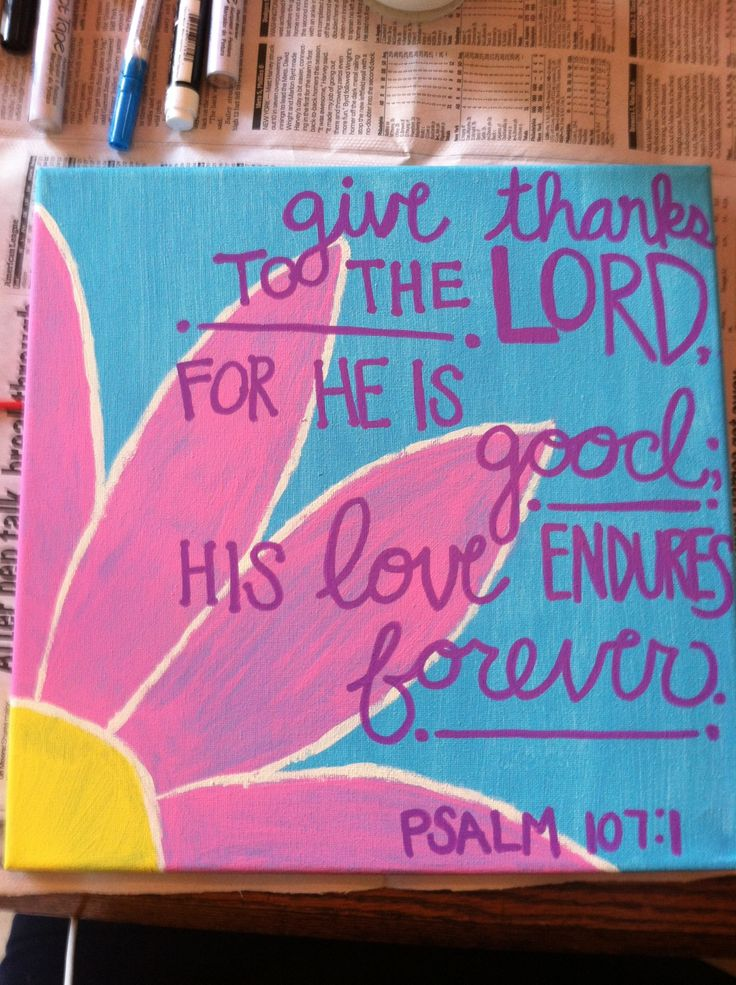 Bible Verse Painted Canvas Psalm Bible Verse Painting