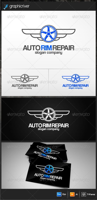 Auto Rim Repair  - Logo Design Template Vector #logotype Download it here: http://graphicriver.net/item/auto-rim-repair-logo-templates/4769223?s_rank=736?ref=nexion