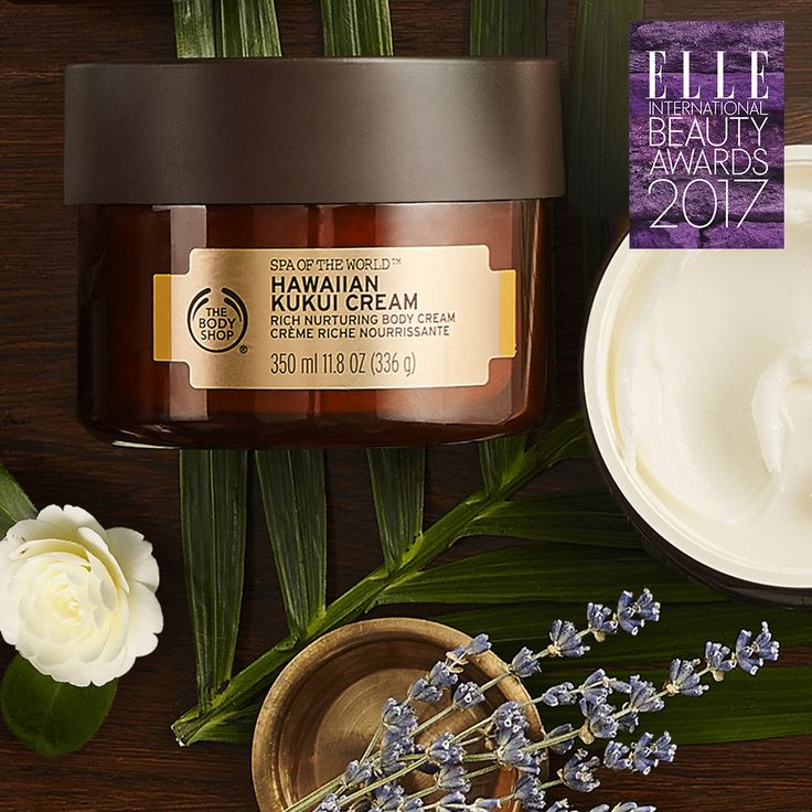 The Body Shop is SUPER excited to have won the Elle International Beauty Award for 'Body Moisturiser of the Year'. It's official… our Spa Of The World™  Hawaiian Kukui Cream is the cream of the crop!