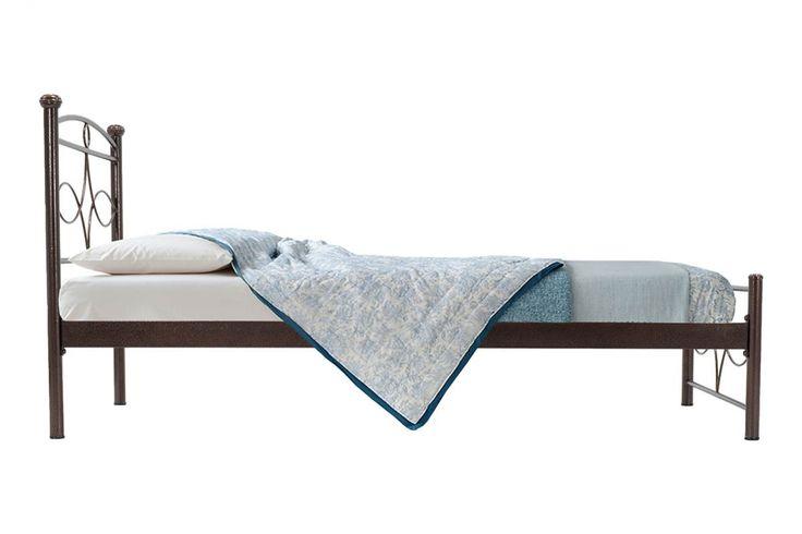 Κρεβάτι Roberto μεταλλικό 90x200 σφυρήλατο καφέ
