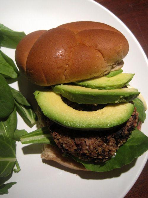 Black Bean and Quinoa Burgers - vegan