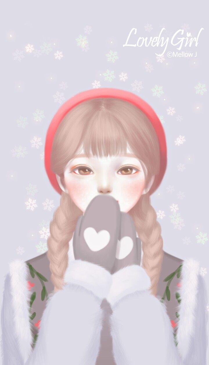 Pin Oleh Mizuko Di Lovely Girl Kertas Dinding Seni Kartun