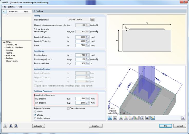 Dlubal RFEM 5 & RSTAB 8 - Defining Eccentricity of Base Plate in RF-/JOINTS Steel - Column Base | www.dlubal.com | #bim #cad #dlubal #dynamics #eurocode #engineering #engineeringsoftware #fea #fem #rfem #rstab #structuralanalysis