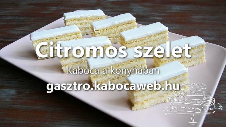 Citromos szelet recept videó - Kabóca a konyhában