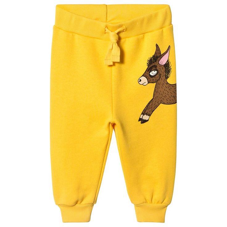 Mini Rodini Donkey Sweatpants Yellow Yellow