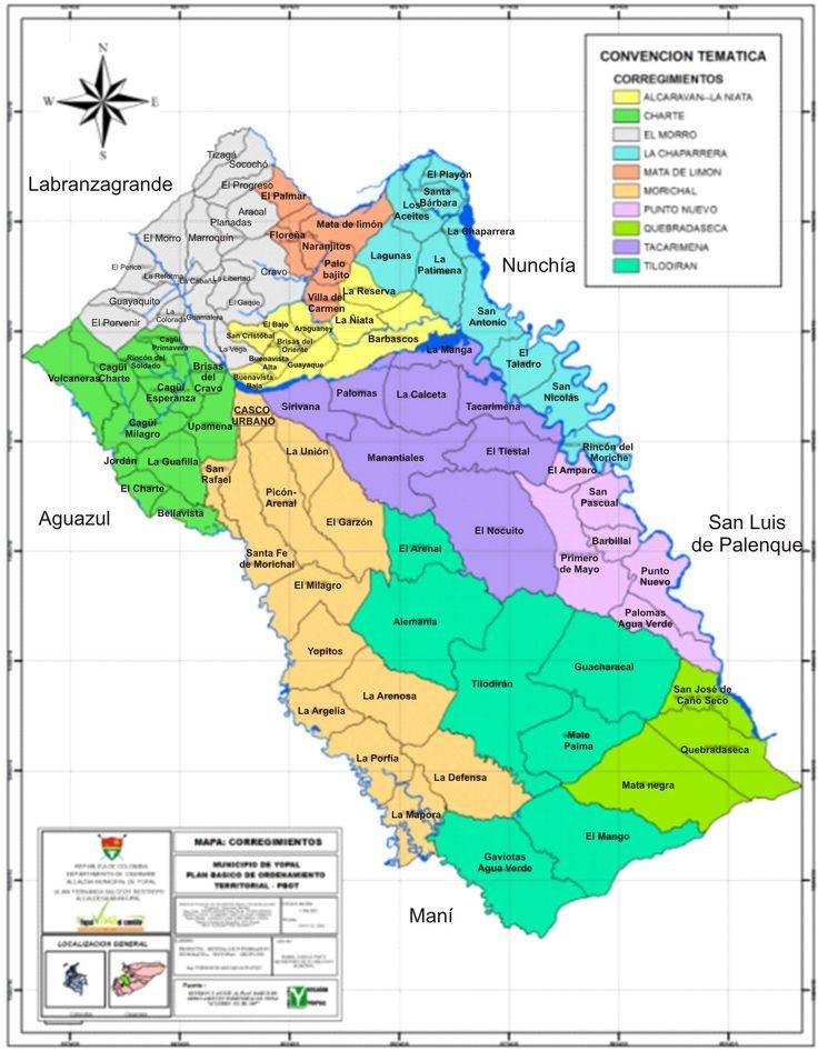 imagen de mapa de División Política Rural