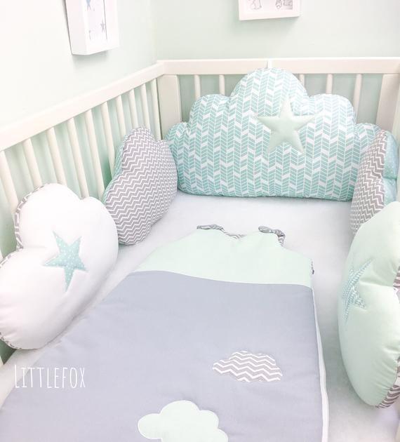 Baby Comfort Tour de lit 4 faces pour berceau 120 x 60 cm