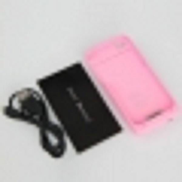 1900mAh Rechargeable External Lithium Battery for iPhone 4/4S in a pink case