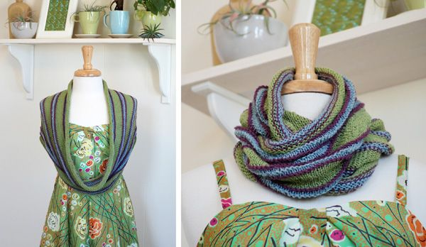 I love the combination of the lightweight cowl with a sundress.