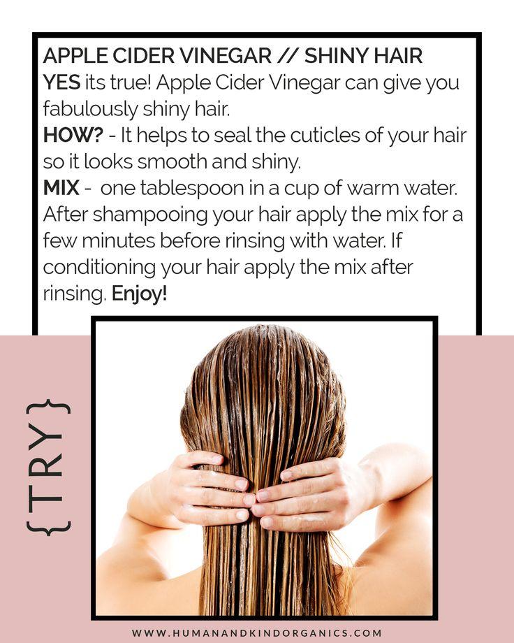 Apple Cider Vinegar for SHINNY hair!