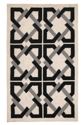 Trina Turk | Geometric Tile Hook Rug  www.customboutiques.com