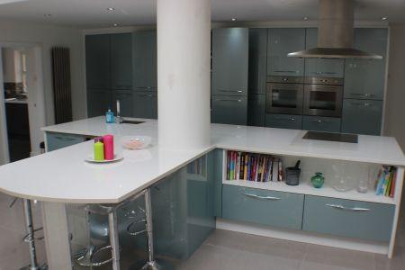 John Painter - Hartlepool kitchen buy Stardust, High gloss metallic blue kitchen units online Cheap Kitchens | Discount Kitchens for Sale Online | Cheap Kitchen Cabinets