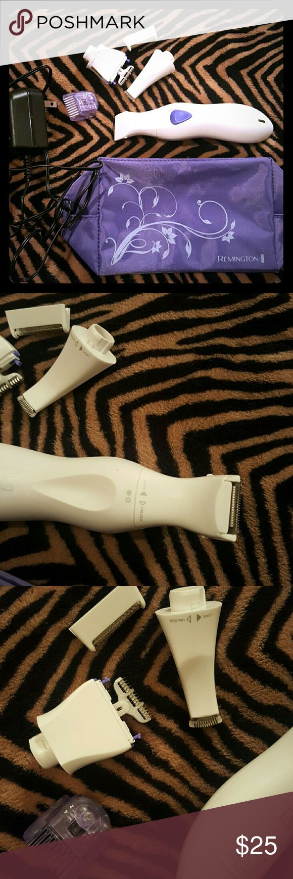 Remington electric shaver Brand new never used electric shaver, plugs in so you just have to charge it. Comes with different shaver for different parts of the body.  Sephora remington Makeup Brushes & Tools