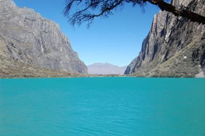 Glacier lake - Huascaran National Park, Peru: I took this picture with a Nikon D40 on June 22nd, 2011 at the Huascarán National Park in Ancash, Peru. More info...