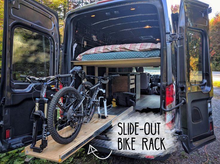 Our Slide Out Bike Rack Installation For Ford Transit Camper Van Conversion Material