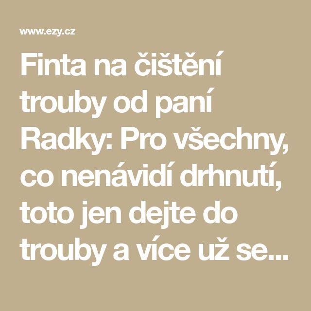 Finta na čištění trouby od paní Radky: Pro všechny, co nenávidí drhnutí, toto jen dejte do trouby a více už se nestaráte! - EZY - Víme jak