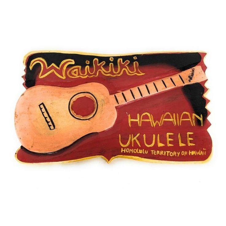 "Hawaiian Ukulele - Waikiki | Vintage Sign 16"""