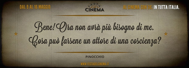 Festa del cinema - dal 9 al 16 maggio al cinema a 3 euro in tutta Italia