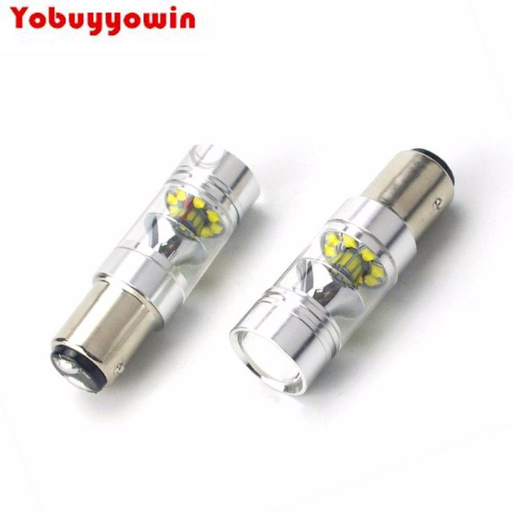 2Pcs 1157 BAY15D High Power 100W 1100LMS CREE Chips LED Light Bulbs for Car Auto Brake Turn Signal Taillight Parking Light Side