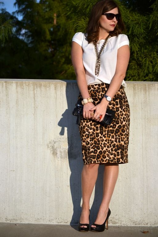 Want an animal print skirt