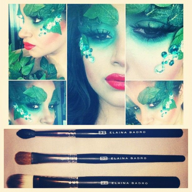 Love this!! Perfect makeup for a Halloween costume.. Maybe Mother Nature or a goddess of nature?