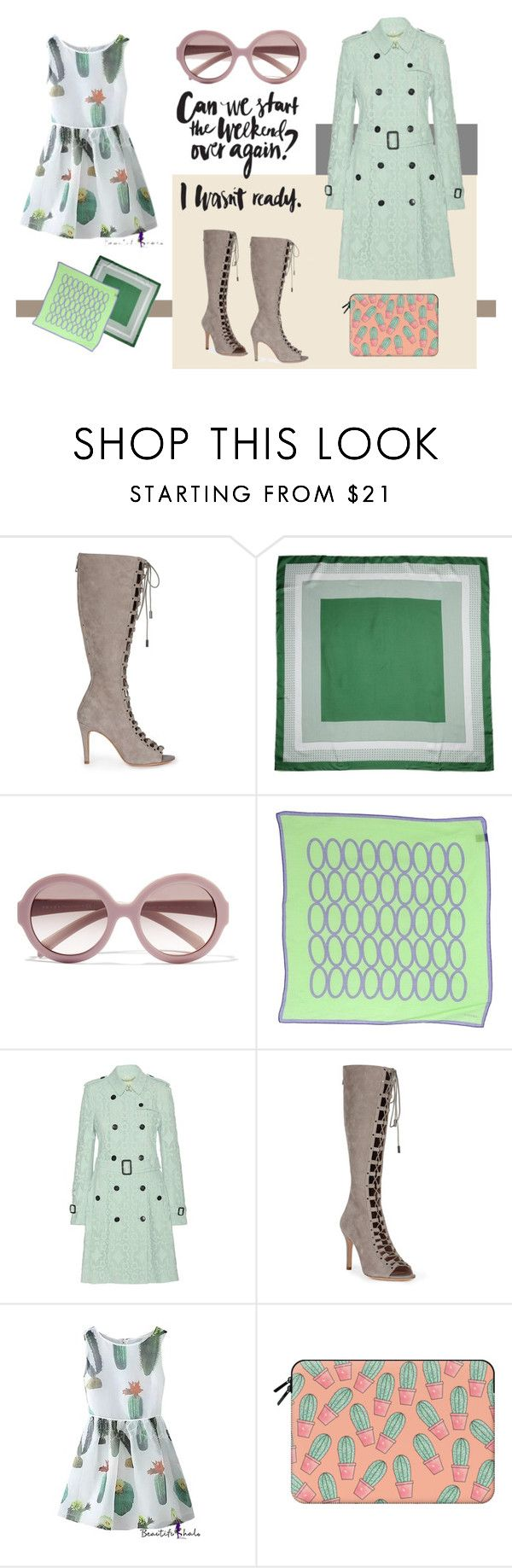 """""""Cactus chic"""" by pinfi on Polyvore featuring CÉLINE, Prada, Piombo, Burberry and Casetify#fashion #trends"""