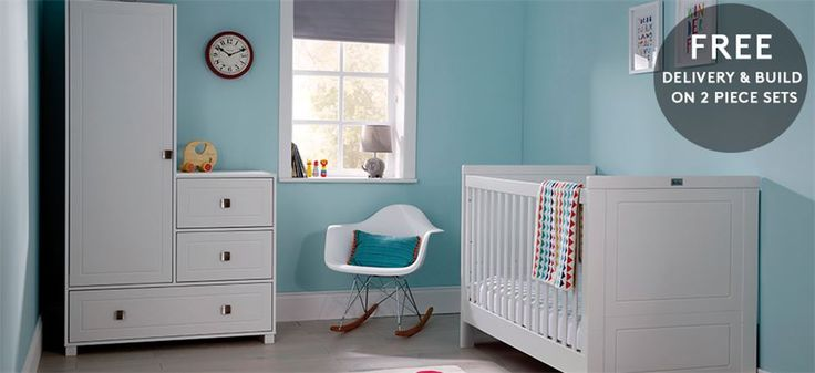 Soho white nursery furniture set from silver cross