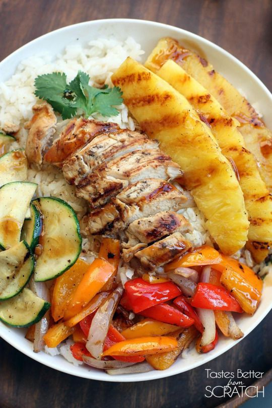 "foodierecipes2016: ""foodsforus: ""  Grilled Hawaiian Chicken Teriyaki Bowls "" Submit your recipes to Tasty Gallery!"""