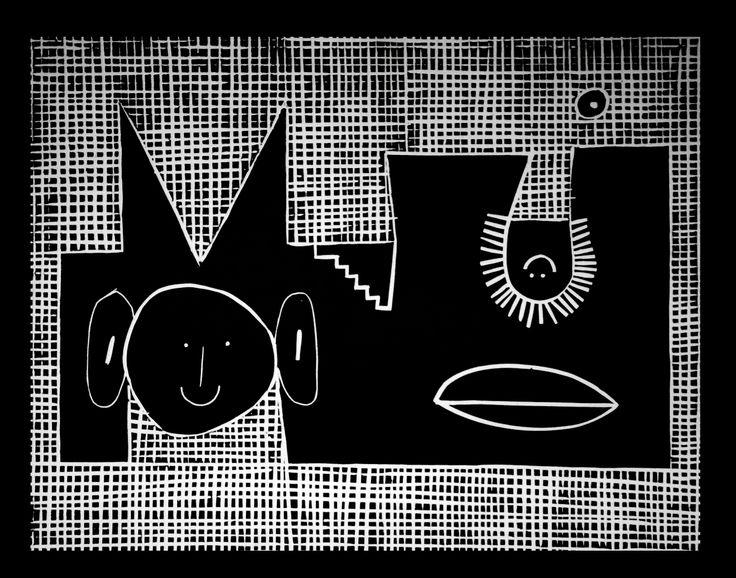 "MATEUSZ CZAPEK / ""CHWILUNIA"" / 2014 / linoryt"