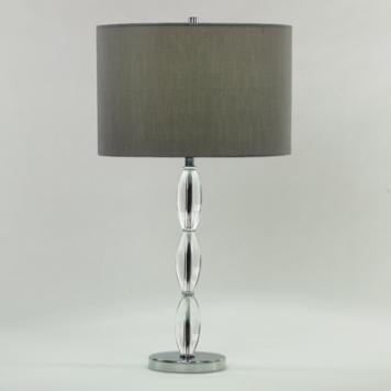 (H) Ellesmere Table Lamp, Grey Shade, 3-way 150W