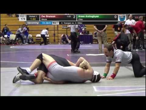 Zac Brunson (Illinois) vs Arsen Arshughyan (Ohio) -174lbs Midlands Wrestling Tournament