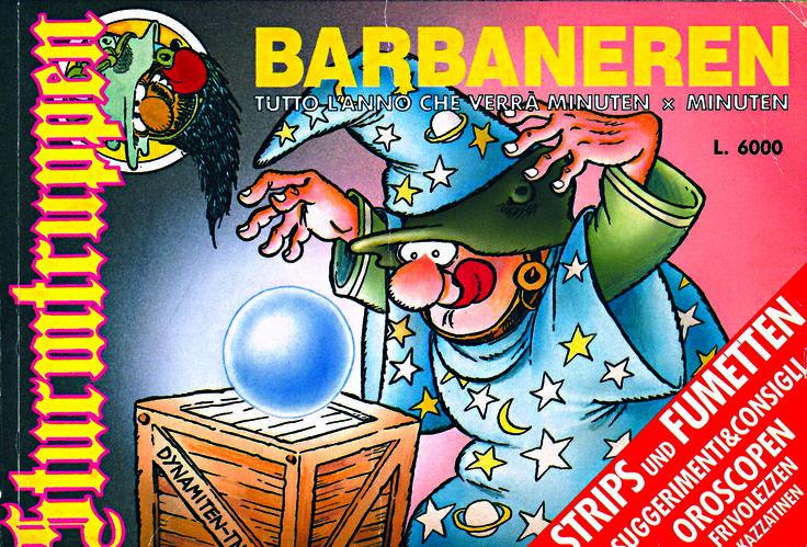 È la fine del 1992 e #Bonvi dedica un numero speciale degli Sturmtruppen a Barbanera. Calendario, oroscopo e previsioni semiserie per il 1993!