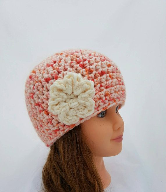 Check out this item in my Etsy shop https://www.etsy.com/ca/listing/467731708/girls-crochet-hat-beanie-with-flower