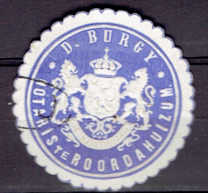 Roordahuizum - D. Burgy Notaris te Roordahuizum - zegel